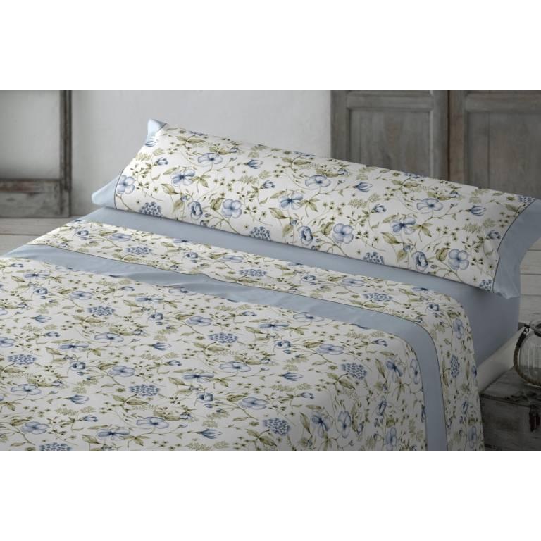 Juego de sábanas Duisan (azul, Cama 090: 160x270 cm)
