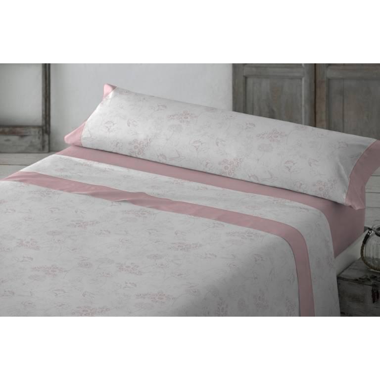 Juego de sábanas Yelina (rosa, Cama 090: 160x270 cm)
