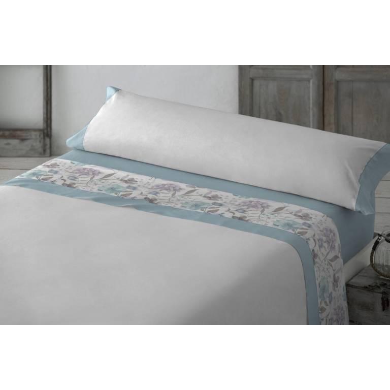 Juego de sábanas Yllera (azul, Cama 150: 240x270 cm)