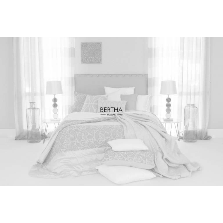 Colcha bouti bordada Cheston (blanco, Cama 090: 180x270 cm)